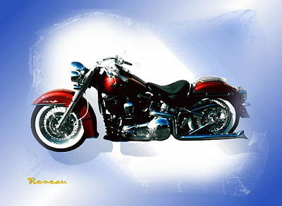 Photograph - Harley Softail by Sadie Reneau