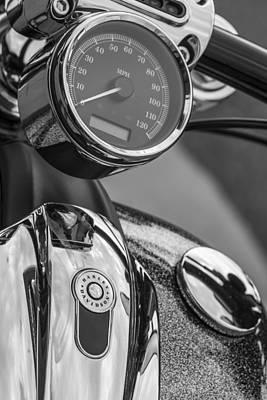Photograph - Harley Speedometer And Tank   by John McGraw