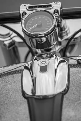 Photograph - Harley Tank And Speedometer  by John McGraw