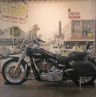 Photograph - Harley With Vintage Las Vegas by Kay Novy