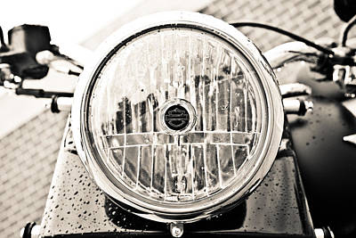 Photograph - Harley's Headlight by Sennie Pierson