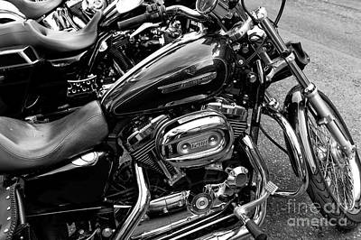 Photograph - Harley's In New Orleans Mono by John Rizzuto
