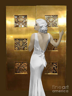 Harlow Art Deco Doors Art Print by Maureen Tillman