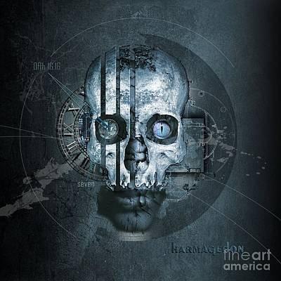 Harmagedon Blue-gray Art Print by Franziskus Pfleghart
