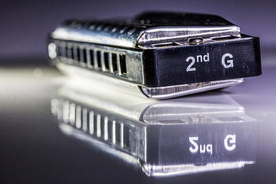 Photograph - Harmonica by Gary Gillette