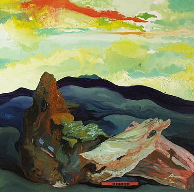 Harmonica Under Firewood Art Print by Joseph Demaree
