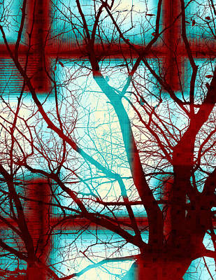 Digital Art - Harmonious Colors - Red White Turquoise by Shawna Rowe