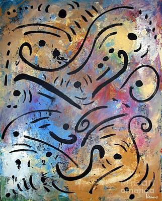 Harmony And Rain Art Print by Venus