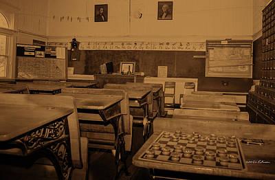 Photograph - Harmony Classroom Sepia by Edward Peterson