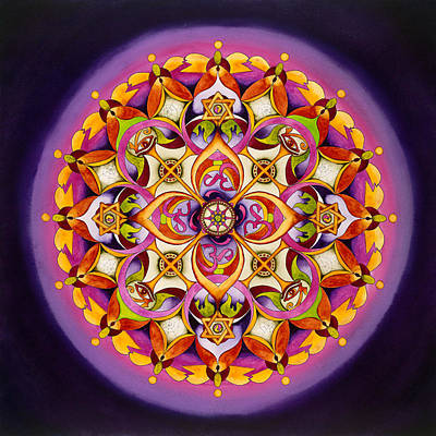Unity Painting - Harmony - Crown Chakra Mandala by Vikki Reed