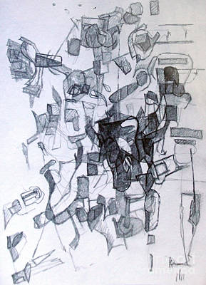 Creativity Drawing - Harmony Despite Differences 2 by David Baruch Wolk