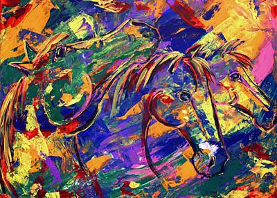 Harmony Horses Art Print