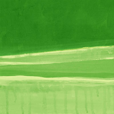 Abstract Landscape Royalty-Free and Rights-Managed Images - Harmony In Green by Linda Woods