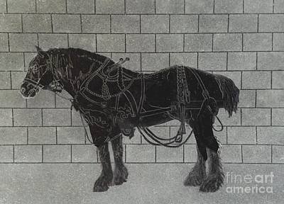 Music Painting - Horse Harness Diagram by JL Vaden