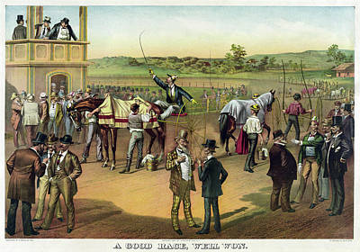Harness Racing Painting - Harness Racing, C1887 by Granger