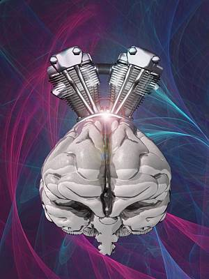 Mind Control Photograph - Harnessing Brain Power, Artwork by Science Photo Library