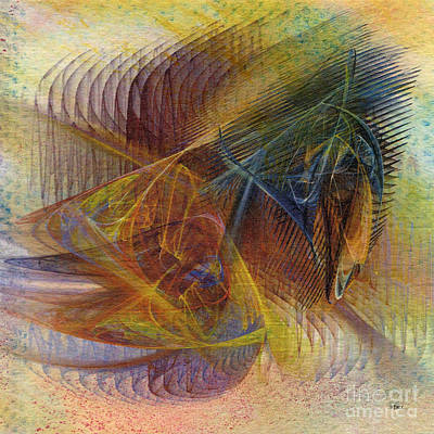 Digital Art - Harnessing Reason - Square Version by John Beck
