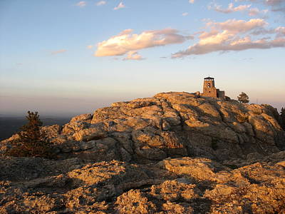 Great Plains Photograph - Harney Peak At Dusk by Daniel  Taylor