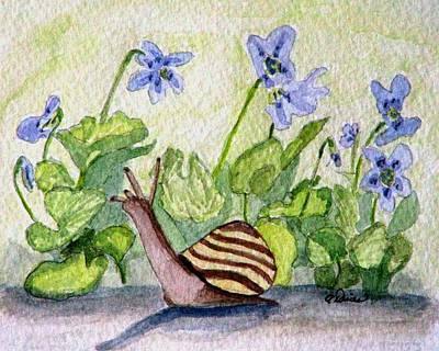 Harold In The Violets Art Print by Angela Davies