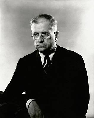 Photograph - Harold L. Ickes Wearing A Suit by Lusha Nelson