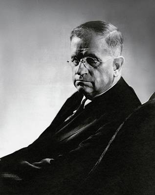 Harold L. Ickes Wearing Glasses Print by Lusha Nelson
