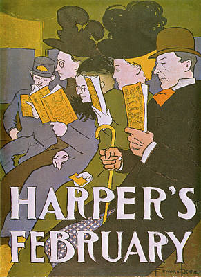 Photograph - Harpers February by Edward Penfield