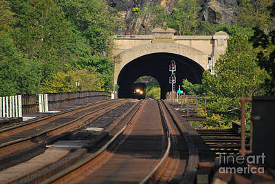 Photograph - Harpers Ferry Amtrak Series 2 Of 6 by Bob Sample