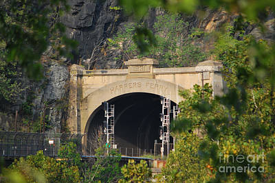 Photograph - Harpers Ferry Amtrak Series 1 Of 6 by Bob Sample