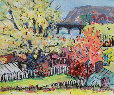 Loose Painting - Harper's Ferry Crossing by Larry Lerew
