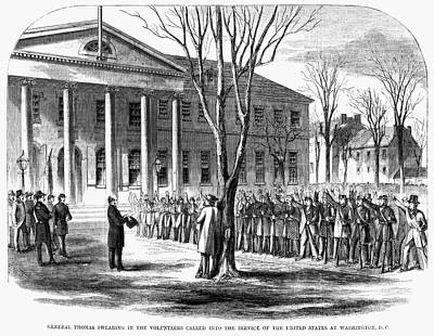 Swearing In Painting - Harper's Weekly, 1861 by Granger
