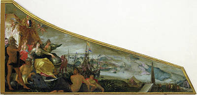 Harpsichord Lid Showing An Allegory Of Amsterdam Art Print by Litz Collection