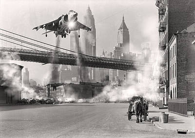 Photograph - Harrier Landing In Brooklyn by Nop Briex