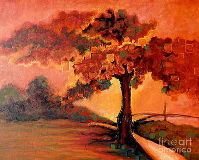 Painting - Harriet Island by L Cecka