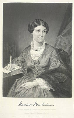 Harriet Martineau Art Print by British Library
