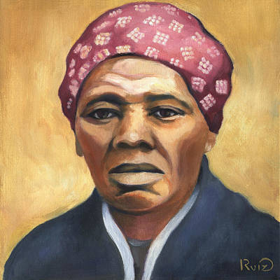 Painting - Harriet Tubman by Linda Ruiz-Lozito