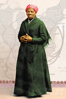 Harriet Tubman The Underground Railroad 20140210v2 Art Print by Wingsdomain Art and Photography