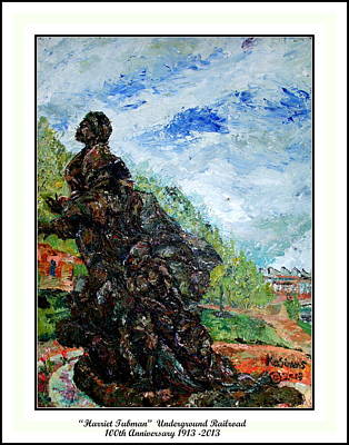 Acylic Painting - Harriet Tubman-underground Railroad by Keith OBrien Simms