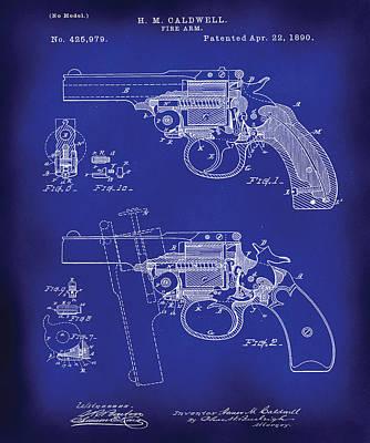 1890 Patent Digital Art - Harrington Arms Break-top Revolver by Mikael