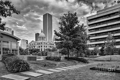 Harris County Courthouse From Jury Summons Square Art Print by Silvio Ligutti