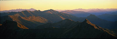 Harris Mountains New Zealand Print by Panoramic Images