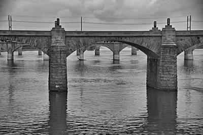 Photograph - Harrisburg Bridges by Steven Richman