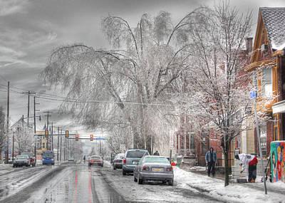 Winter Storm Digital Art - Harrisburg On Ice by Lori Deiter