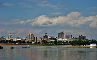 Photograph - Harrisburg Skyline by Ed Sweeney