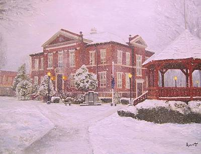 Arkansas Painting - Harrison Courthouse by Ron Aucutt