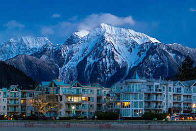Harrison Hot Springs Wall Art - Photograph - Harrison Hot Springs Condos And Mount Cheam Range by Michael Russell