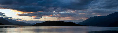 Harrison Hot Springs Wall Art - Photograph - Harrison Lake Sunset Panorama by Michael Russell