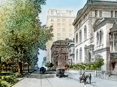 Harrison Residence East Rittenhouse Square Philadelphia C 1890 Art Print