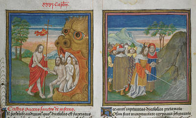 Land Feature Photograph - Harrowing Of Hell; Moses by British Library