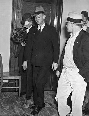 Harry Bridges Signs Pact Art Print by Underwood Archives