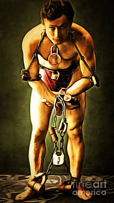 Harry Houdini 20140222brunaille Art Print